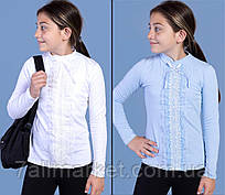 """Реглан підлітковий шкільний з гіпюром на дівчинку 6-13 років (2цв) """"JUNIOR""""купити недорого від прямого постачальника"""