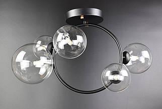 Люстра потолочная на 5 лампочек 069/5 Черный 51х24х52 см.