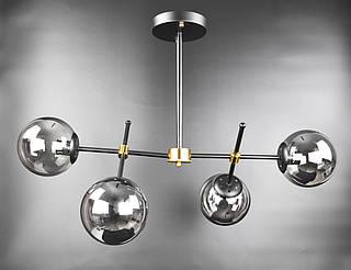 Люстра стельова на 4 лампочки 2007/4 Чорний 55х45х80 див.
