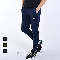 Темно-синие мужские спортивные штаны на манжете, Трикотаж лакост / Размеры 44-52