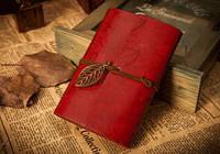 Винтажный блокнот (красный)