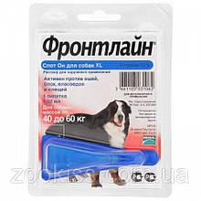 Фронтлайн Спот Он XL капли на холку для собак массой 40 - 60 кг (1 пип.х 4,02 мл)