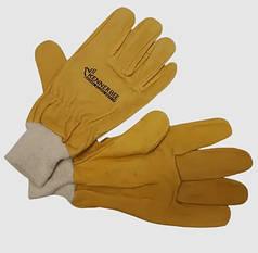 Перчатки пчеловода кожаные с манжетом, Пакистан XL