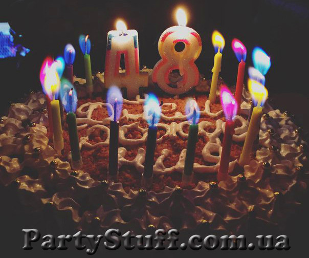 Свечи с цветным пламенем для торта