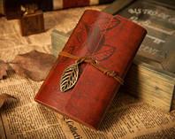 Винтажный блокнот (бордовый)