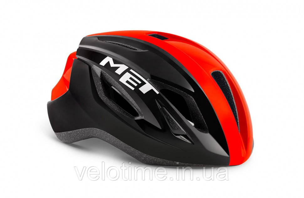 Шлем MET Strale CE  (BLACK RED PANEL | GLOSSY L 59-62 cm)