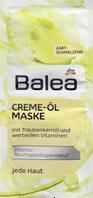 Маска для лица c маслом виноградных косточек и маслом Ши  Balea Creme Ol Maske 16 мл