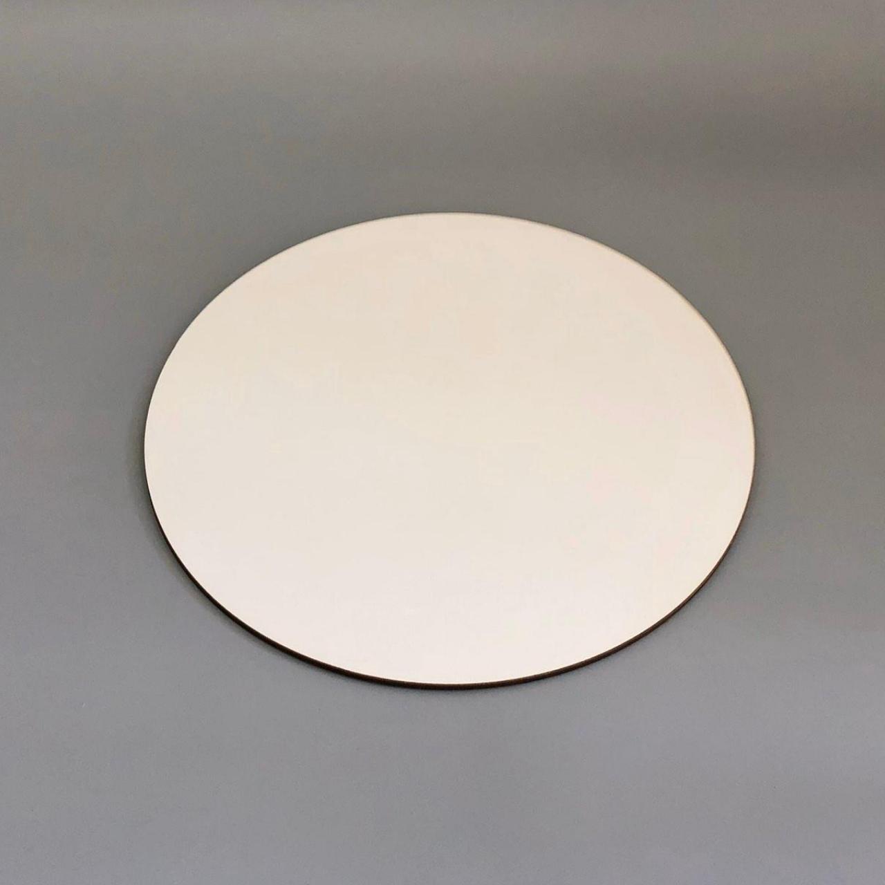 Посилена підложка під торт ∅-100 мм, біла - ДВП 3 мм