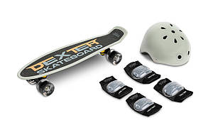Скейт пенни борд Caretero (Toyz) Dexter + шлем и защита