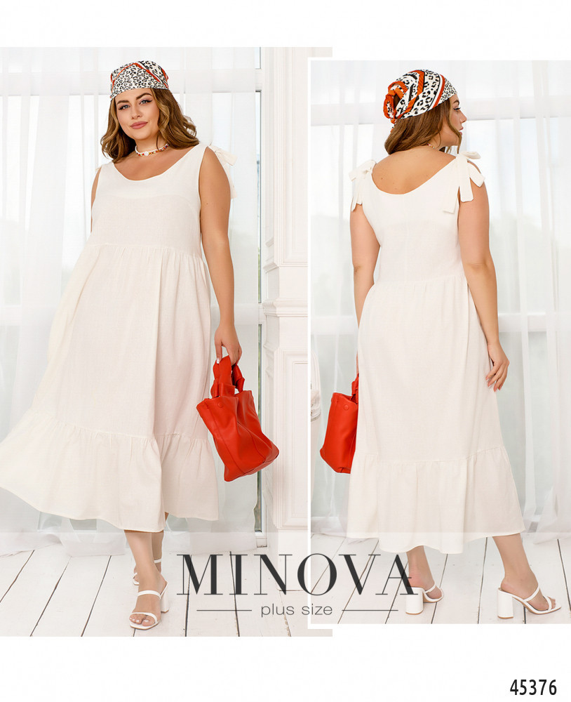 Сукня №7134-1-білий білий/50-52
