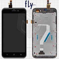 Дисплейный модуль (дисплей + сенсор) для Fly IQ452 Quad EGO Vision 1, с рамкой, черный, оригинал