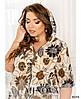 Сукня №1028-бежевий бежевий/54-56, фото 4