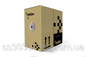 Кабель КНПЕт FTP (4 * 2 * 0.5) 4p 24 AWG, Merlion, (CCA), ізоляція ПВХ + ПЕ, екран для зовн. робіт з тросом,