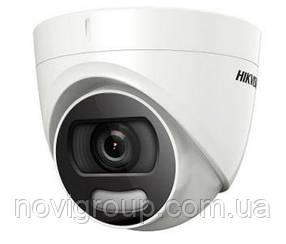 5мп TVI / AHD / CVI / CVBS відеокамера ColorVu Hikvision c лід підсвічуванням DS-2CE72HFT-F (2.8 ММ)