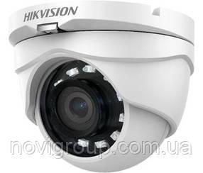 2MP Камера TVI / AHD / CVI / CVBS вуличні / внутр Hikvision DS-2CE56D0T-IRMF (С) (2.8 ММ)