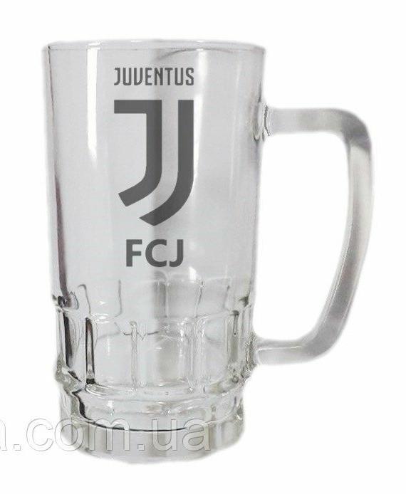 Бокал для пива стеклянный ФК Ювентус 600 ml