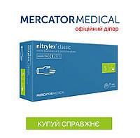 Нитриловые перчатки, Mercator Nytrilex неопудренные, S, 100 шт.