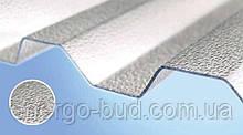 Полікарбонатний шифер Rober прозорий текстурований 2000*1045*0,8мм трапеція