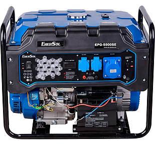 Генератор бензиновий EnerSol EPG-5500SE, однофазний, 5.5 кВт, AVR, бак 26 л, електростарт (EPG-5500SE)