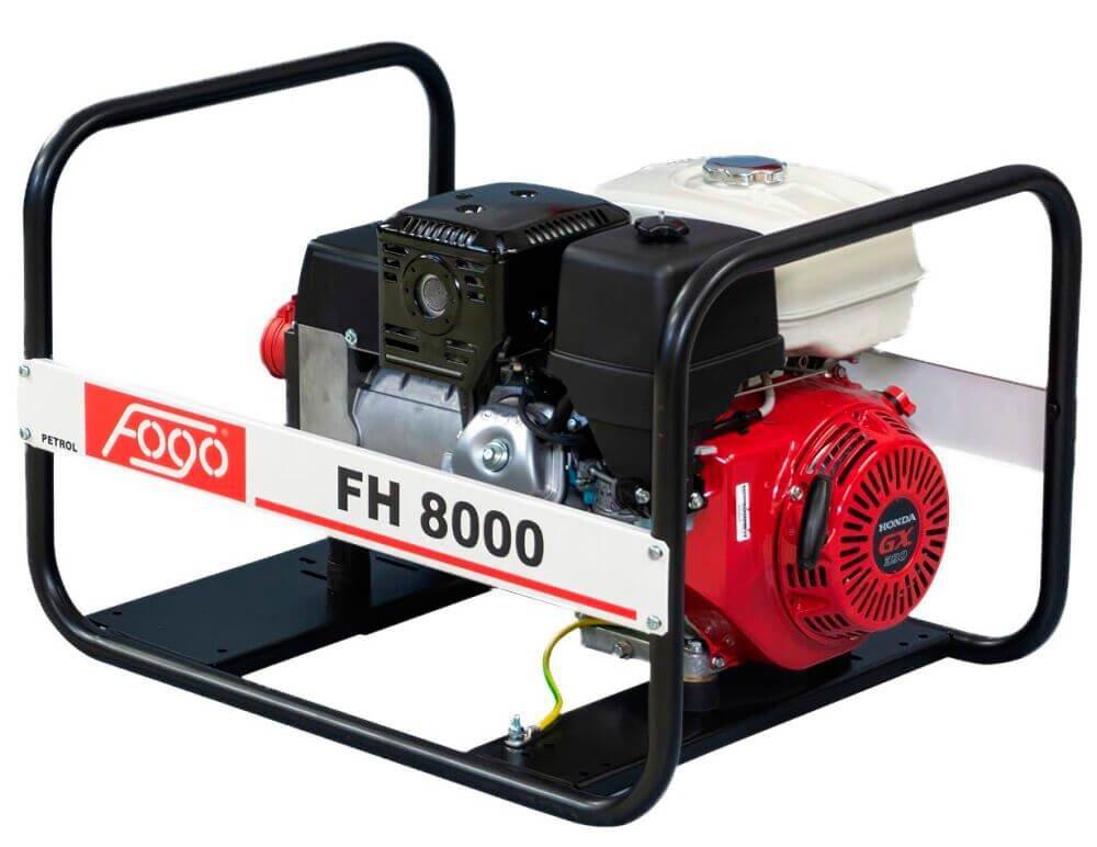 Генератор бензиновий Fogo FH 8000, трифазний, 7.7 кВт, AVR, бак 6.2 л, ручний стартер (34146)