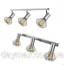 Светильник лофт MSK Electric Diadem настенно-потолочный NL 22151-3 CR хром