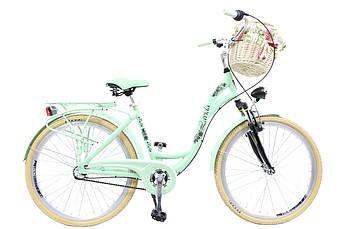 Велосипед жіночий міський Lavida 26 Nexus 3 Mint алюмінієвий з кошиком Польща