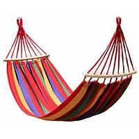 Мексиканский подвесной гамак с планками 2,1х1 м Разноцветный