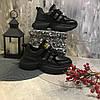 Жіночі кросівки натуральна шкіра , чорні
