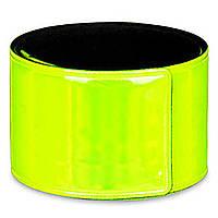 Светоотражающие цветные слеп браслеты-фликеры Refloactive Желтый Без логотипа