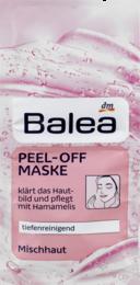Глубоко очищающая маска  с абрикосовым экстрактом Balea Peel Off  Maske 16 мл