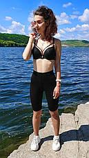 Шорты велосипедки женские с высокой посадкой фитнес (СПОРТ), фото 2