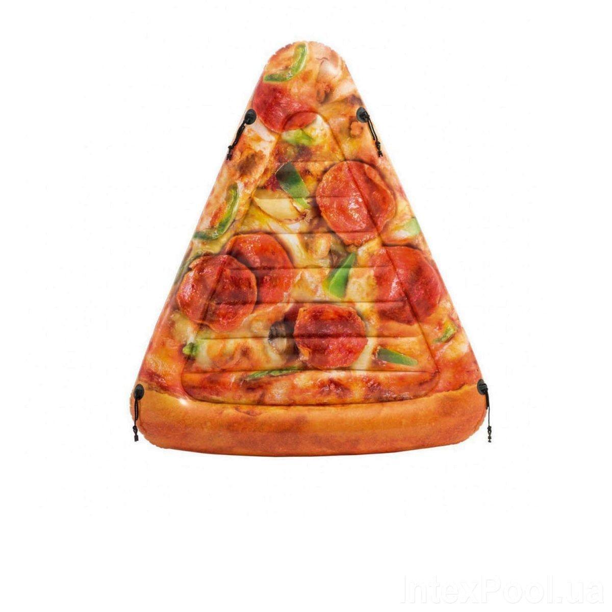 Пляжный надувной матрас Intex 58752 «Пицца»,175 х 145 см