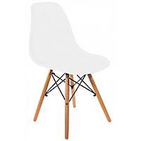 Кухонный стул кресло В-173 FULL KD табурет на ножках дерево бук в гостинную обеденный стул на кухню белый