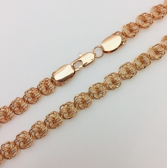 Цепочка Fallon Jewelry 84190415-50, Н-8 длина 50 см, ювелирная бижутерия, мед золото