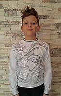 Белый реглан для мальчиков 128,140,152 роста Белый, фото 1