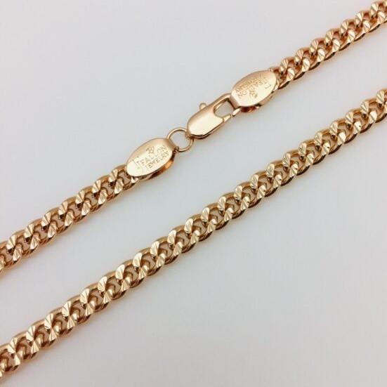 Ланцюжок Fallon Jewelry 84110164-60, Н-5 довжина 60 см, ювелірна біжутерія, мед золото