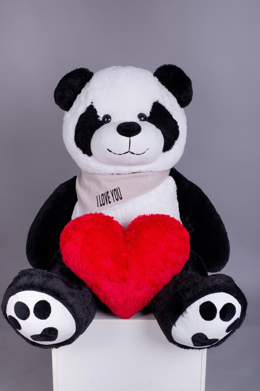 Ведмедик Плюшевий Yarokuz Панда з серцем 165 см