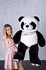 Ведмедик Плюшевий Yarokuz Панда з серцем 135 см, фото 2