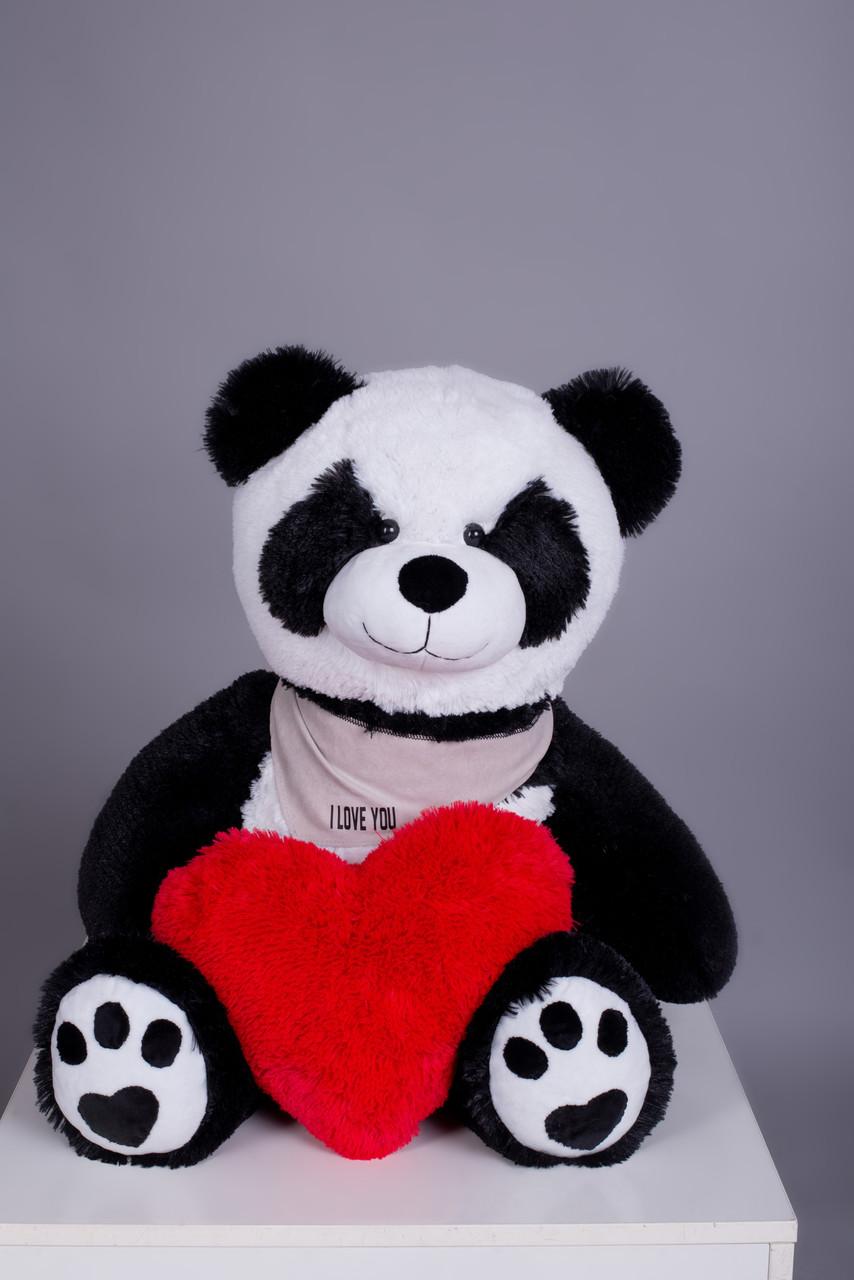 Мишка плюшевый Yarokuz Панда с сердцем 90 см