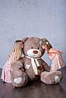 Ведмедик з латками Плюшевий Yarokuz Дональд 2 метра Капучіно, фото 3