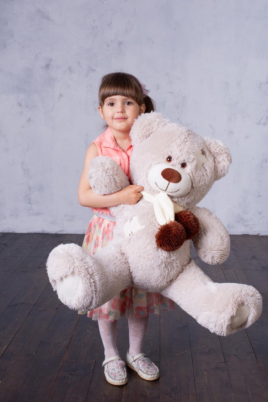 Ведмедик з латками Плюшевий Yarokuz Уолтер 80 см Марципан