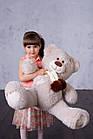 Ведмедик з латками Плюшевий Yarokuz Уолтер 80 см Марципан, фото 4