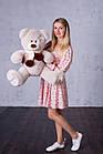 Ведмедик з латками Плюшевий Yarokuz Уолтер 80 см Марципан, фото 5