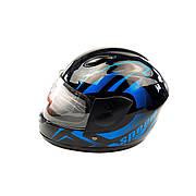 Шлем детский интеграл (mod: F2-801) (size XS, BLACK/BLUE)