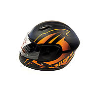 Шлем детский интеграл (mod: F2-801) (size XS, BLACK/ORANG) ST
