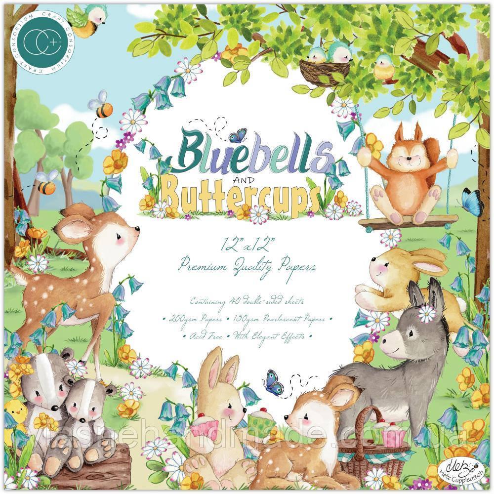 Набір двостороннього паперу - Bluebells & Buttercups - Craft Consortium - 30x30 Ціна за 1.4 набору (10 л.)