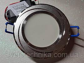 Feron AL777 5W 4000К серебрянный точечный светодиодный светильник панель (корпус серебро)