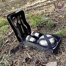 """Посуд для природи і пікніка з нержавіючої сталі """"Турист-6""""в сумці на 6 персон ( Набір для пікніка ), фото 2"""