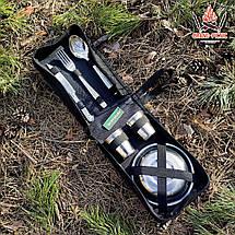 """Посуд для природи і пікніка з нержавіючої сталі """"Турист-6""""в сумці на 6 персон ( Набір для пікніка ), фото 3"""