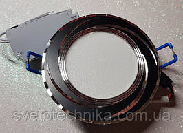 Feron AL777 5W 4000К черный точечный светодиодный светильник панель (корпус черный)